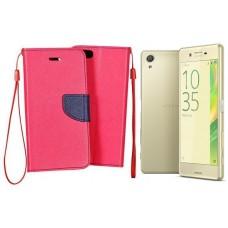 Manager dėklas Sony Xperia X mobiliesiems telefonams rožinės spalvos