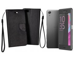 Manager dėklas Sony Xperia X Performance mobiliesiems telefonams juodos spalvos
