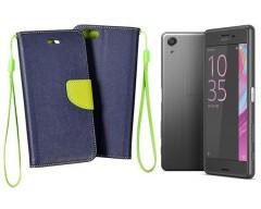 Manager dėklas Sony Xperia X Performance mobiliesiems telefonams mėlynos spalvos