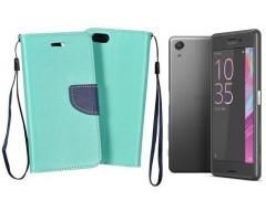 Manager dėklas Sony Xperia X Performance mobiliesiems telefonams mėtinės spalvos