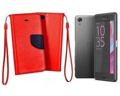 Manager dėklas Sony Xperia X Performance mobiliesiems telefonams raudonos spalvos