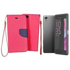 Manager dėklas Sony Xperia X Performance mobiliesiems telefonams rožinės spalvos
