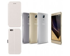 Slim Diary dėklas Huawei Honor 7 mobiliesiems telefonams baltos spalvos