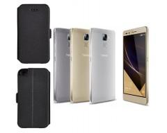 Slim Diary dėklas Huawei Honor 7 mobiliesiems telefonams juodos spalvos