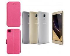 Slim Diary dėklas Huawei Honor 7 mobiliesiems telefonams rožinės spalvos