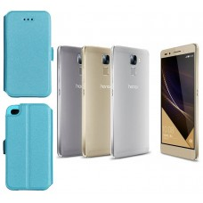Slim Diary dėklas Huawei Honor 7 mobiliesiems telefonams žydros spalvos