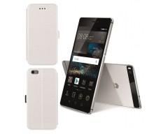 Slim Diary dėklas Huawei P8 mobiliesiems telefonams baltos spalvos