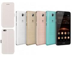 Slim diary dėklas Huawei Y5II mobiliesiems telefonams baltos spalvos