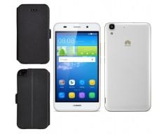 Slim Diary dėklas Huawei Y6 mobiliesiems telefonams juodos spalvos