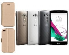 Slim Diary dėklas LG G4s mobiliesiems telefonams aukso spalvos