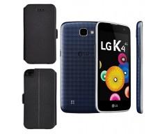 Slim Diary dėklas LG K4 mobiliesiems telefonams juodos spalvos