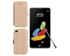Slim Diary dėklas LG Stylus 2 mobiliesiems telefonams aukso spalvos