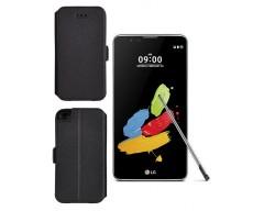 Slim Diary dėklas LG Stylus 2 mobiliesiems telefonams juodos spalvos