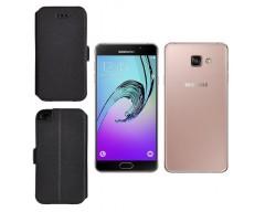 Slim Diary dėklas Samsung Galaxy A7 (2016) mobiliesiems telefonams juodos spalvos
