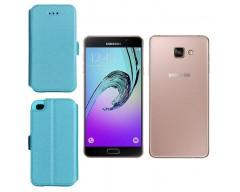 Slim Diary dėklas Samsung Galaxy A7 (2016) mobiliesiems telefonams žydros spalvos