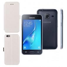 Slim Diary dėklas Samsung Galaxy J1 mini mobiliesiems telefonams baltos spalvos Vilnius | Vilnius | Palanga