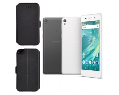 Slim Diary dėklas Sony Xperia  E5 mobiliesiems telefonams juodos spalvos