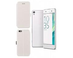 Slim Diary dėklas Sony Xperia XA mobiliesiems telefonams baltos spalvos