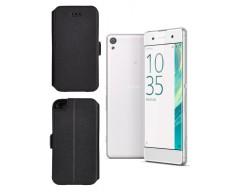 Slim Diary dėklas Sony Xperia XA mobiliesiems telefonams juodos spalvos