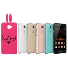 Ausys Rožinis Zuikis silikoninis dėklas Huawei Y5II mobiliesiems telefonams Telšiai | Klaipėda | Plungė