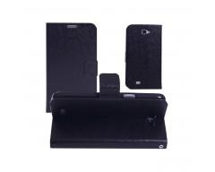 Diary Mate dėklas Samsung Galaxy Note mobiliesiems telefonams juodos spalvos