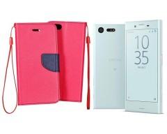 Manager dėklas Sony Xperia X Compact mobiliesiems telefonams rožinės spalvos