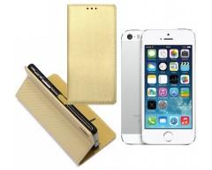 Re-Grid magnetinis dėklas Apple iPhone 5 5s SE mobiliesiems telefonams aukso spalvos