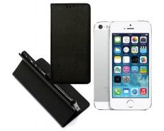 Re-Grid magnetinis dėklas Apple iPhone 5 5s SE mobiliesiems telefonams juodos spalvos