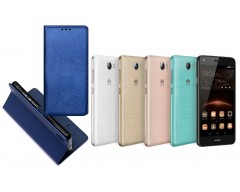 Re-Grid magnetinis dėklas Huawei Y5II mobiliesiems telefonams mėlynos spalvos