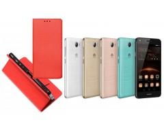 Re-Grid magnetinis dėklas Huawei Y5II mobiliesiems telefonams raudonos spalvos