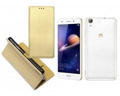 Re-Grid magnetinis dėklas Huawei Y6II mobiliesiems telefonams aukso spalvos