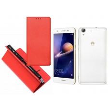 Re-Grid magnetinis dėklas Huawei Y6II mobiliesiems telefonams raudonos spalvos