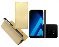 Re-Grid magnetinis dėklas Samsung Galaxy A7 (2017) mobiliesiems telefonams aukso spalvos