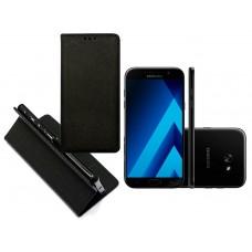 Re-Grid magnetinis dėklas Samsung Galaxy A7 (2017) mobiliesiems telefonams juodos spalvos