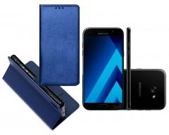 Re-Grid magnetinis dėklas Samsung Galaxy A7 (2017) mobiliesiems telefonams mėlynos spalvos
