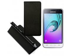 Re-Grid magnetinis dėklas Samsung Galaxy J1 (2016) mobiliesiems telefonams juodos spalvos