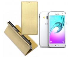 Re-Grid magnetinis dėklas Samsung Galaxy J3 (2016) mobiliesiems telefonams aukso spalvos