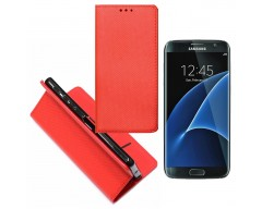 Re-Grid magnetinis dėklas Samsung Galaxy S7 mobiliesiems telefonams raudonos spalvos