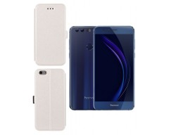Slim Diary dėklas Huawei Honor 8 mobiliesiems telefonams baltos spalvos