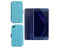 Slim Diary dėklas Huawei Honor 8 mobiliesiems telefonams žydros spalvos