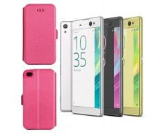 Slim Diary dėklas Sony Xperia XA Ultra mobiliesiems telefonams rožinės spalvos