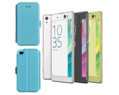 Slim Diary dėklas Sony Xperia XA Ultra mobiliesiems telefonams žydros spalvos