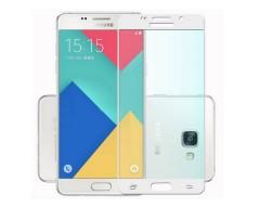 Apsauga ekranui gaubtas grūdintas stiklas Samsung Galaxy A5 (2016) mobiliesiems telefonams baltos spalvos
