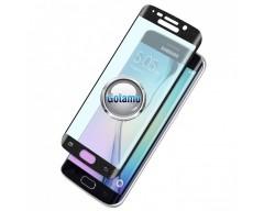 Apsauga ekranui gaubtas grūdintas stiklas Samsung Galaxy S6 edge mobiliesiems telefonams juodos spalvos