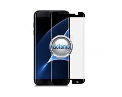 Apsauga ekranui gaubtas grūdintas stiklas Samsung Galaxy S7 edge mobiliesiems telefonams siauresnis juodos spalvos