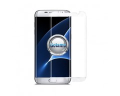 Apsauga ekranui gaubtas grūdintas stiklas Samsung Galaxy S7 edge mobiliesiems telefonams siauresnis baltos spalvos