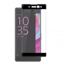 Apsauga ekranui gaubtas grūdintas stiklas Sony Xperia XA mobiliesiems telefonams juodos spalvos