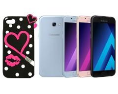 Ausys Valentine silikoninis dėklas Samsung Galaxy A5 (2017) mobiliesiems telefonams