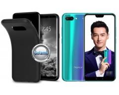 B-matte dėklas nugarėlė Huawei Honor 10 mobiliesiems telefonams juodos spalvos