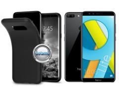B-matte dėklas nugarėlė Huawei Honor 9 Lite mobiliesiems telefonams juodos spalvos